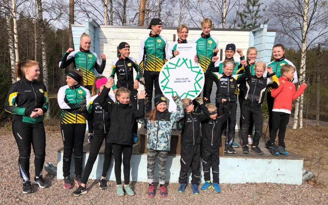Hollolan Urheilijoiden hiihtojaosto sai Tähtimerkin palkkioksi ansiokkaasta työstään